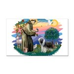 St.Francis #2/ Beardie (sw) Rectangle Car Magnet