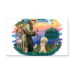 St.Francis #2/ Bearded Colli Rectangle Car Magnet
