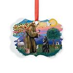 St.Francis #2/ Belgian Shep Picture Ornament