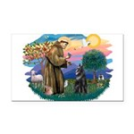 St.Francis #2/ Belgian Shep Rectangle Car Magnet