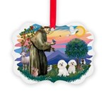 St Francis #2/ Bichon (2) Picture Ornament