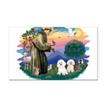 St Francis #2/ Bichon (2) Rectangle Car Magnet