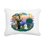 St Francis #2/ Bichon #1 Rectangular Canvas Pillow