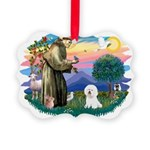 St Francis #2/ Bichon #1 Picture Ornament