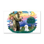 St Francis #2/ Bichon #1 Rectangle Car Magnet