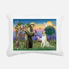 St Francis & Borzoi Rectangular Canvas Pillow