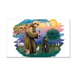 St Francis #2/ Bouvier Rectangle Car Magnet