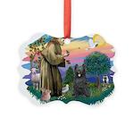St.Francis #2/ Briard (blk) Picture Ornament