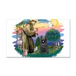 St.Francis #2/ Briard (blk) Rectangle Car Magnet