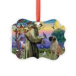 St Francis / Bullmastiff Picture Ornament