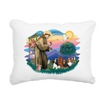 St Francis #2/ Cavaliers Rectangular Canvas Pillow