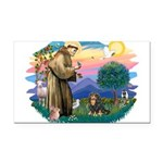 St.Francis #2/Cavalier (BT) Rectangle Car Magnet