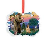 St.Francis #2/ Shar Pei (#2) Picture Ornament