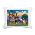 St Francis/Shar Pei #5 Rectangular Canvas Pillow