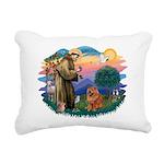 St Francis #2/ Chow (R) Rectangular Canvas Pillow