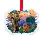 St Francis #2/ Chow (R) Picture Ornament