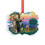 St.Fran #2/ Cocker (brn) Picture Ornament
