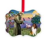 St. Francis & Collie Picture Ornament