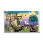St Francis Doxie Rectangle Car Magnet