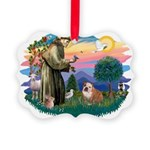 St.Francis #2/ Eng Bull (W-Br Picture Ornament