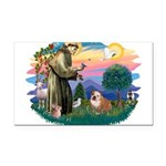 St.Francis #2/ Eng Bull (W-Br Rectangle Car Magnet