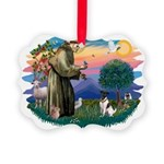 St.Francis #2/ Fox Terrier Picture Ornament