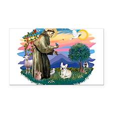 St.Francis #2/ Fr Bulldog (f) Rectangle Car Magnet
