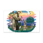 St.Francis #2/ German Shep (P Rectangle Car Magnet