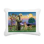 St Francis / G Shep Rectangular Canvas Pillow