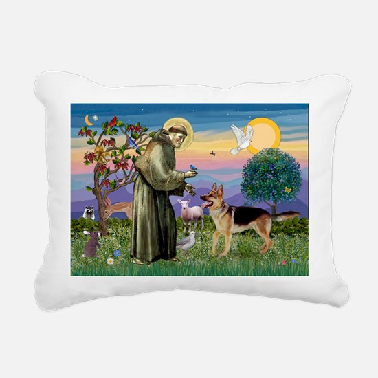 St Francis / G Shep Rectangular Canvas Pillow