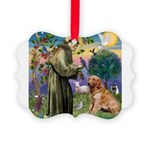St Francis & Golden Picture Ornament