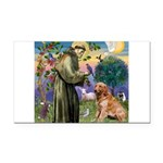 St Francis & Golden Rectangle Car Magnet