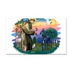 St.Francis #2/ Great Dane (bl Rectangle Car Magnet