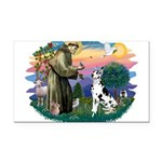 St.Francis #2/ Great Dane (H) Rectangle Car Magnet