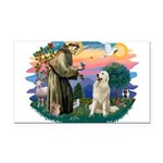 St.Francis #2/ Pyrenees #1 Rectangle Car Magnet