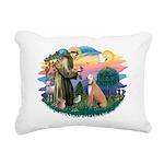 St.Francis #2/ Greyhound Rectangular Canvas Pillow