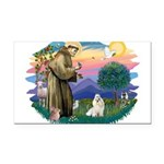St.Francis #2/ Havanese (whit Rectangle Car Magnet