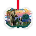 St Francis #2/ Spinone Picture Ornament