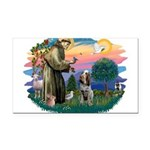 St Francis #2/ Spinone Rectangle Car Magnet