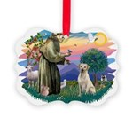 St.Francis #2/ Yellow Lab Picture Ornament