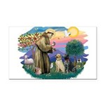St.Francis #2/ Two Labradors Rectangle Car Magnet