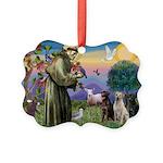St. Francis/3 Labradors Picture Ornament