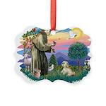 St.Francis #2 / Lhasa Apso (R Picture Ornament