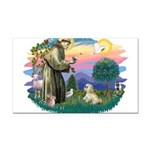 St.Francis #2 / Lhasa Apso (R Rectangle Car Magnet