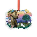 St. Francis #2 / Papillon Picture Ornament