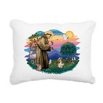 St Francis #2/ PBGV #4 Rectangular Canvas Pillow