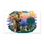 St.Francis #2/ Pomeranian (T Rectangle Car Magnet