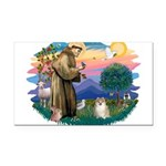 St.Francis #2/ Pomeranian (f) Rectangle Car Magnet