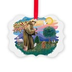 St.Francis #2/ Poodle (Toy A) Picture Ornament