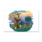 St.Francis #2/ Poodle (Toy A) Rectangle Car Magnet